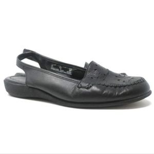 Covington Esther Leather Open Toe Slingback Sandal